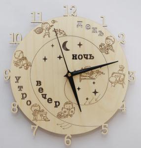 Часы для детей с временем суток