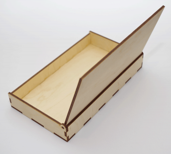 Пенал деревянный сзади