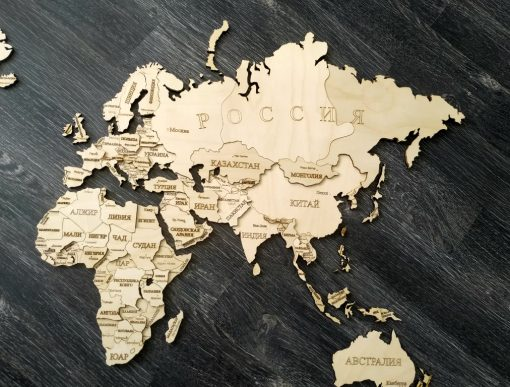 Карта мира из фанеры