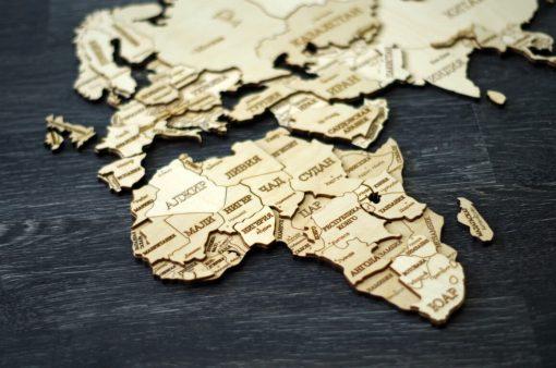 карта мира из фанеры со странами