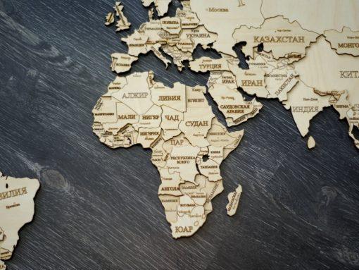 карта мира двухслойная