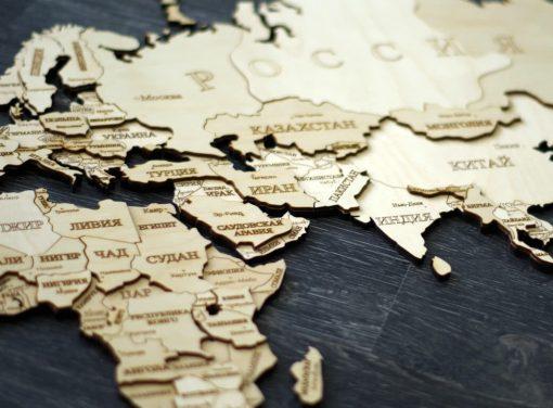 Карта мира два слоя