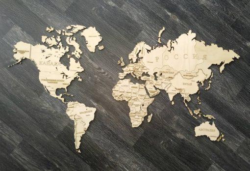 Карта мира заготовка