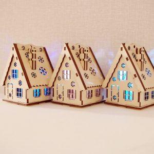 домик для елки со свечкой